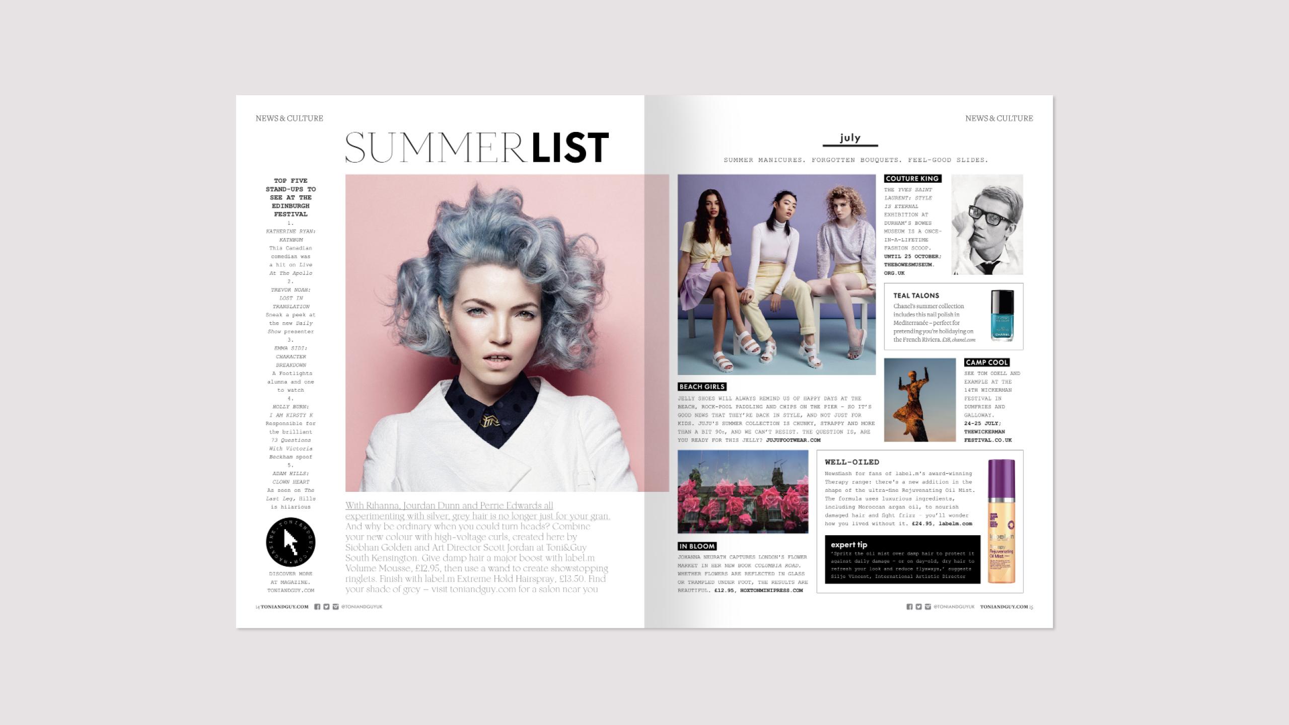 Toni&Guy summer issue 39
