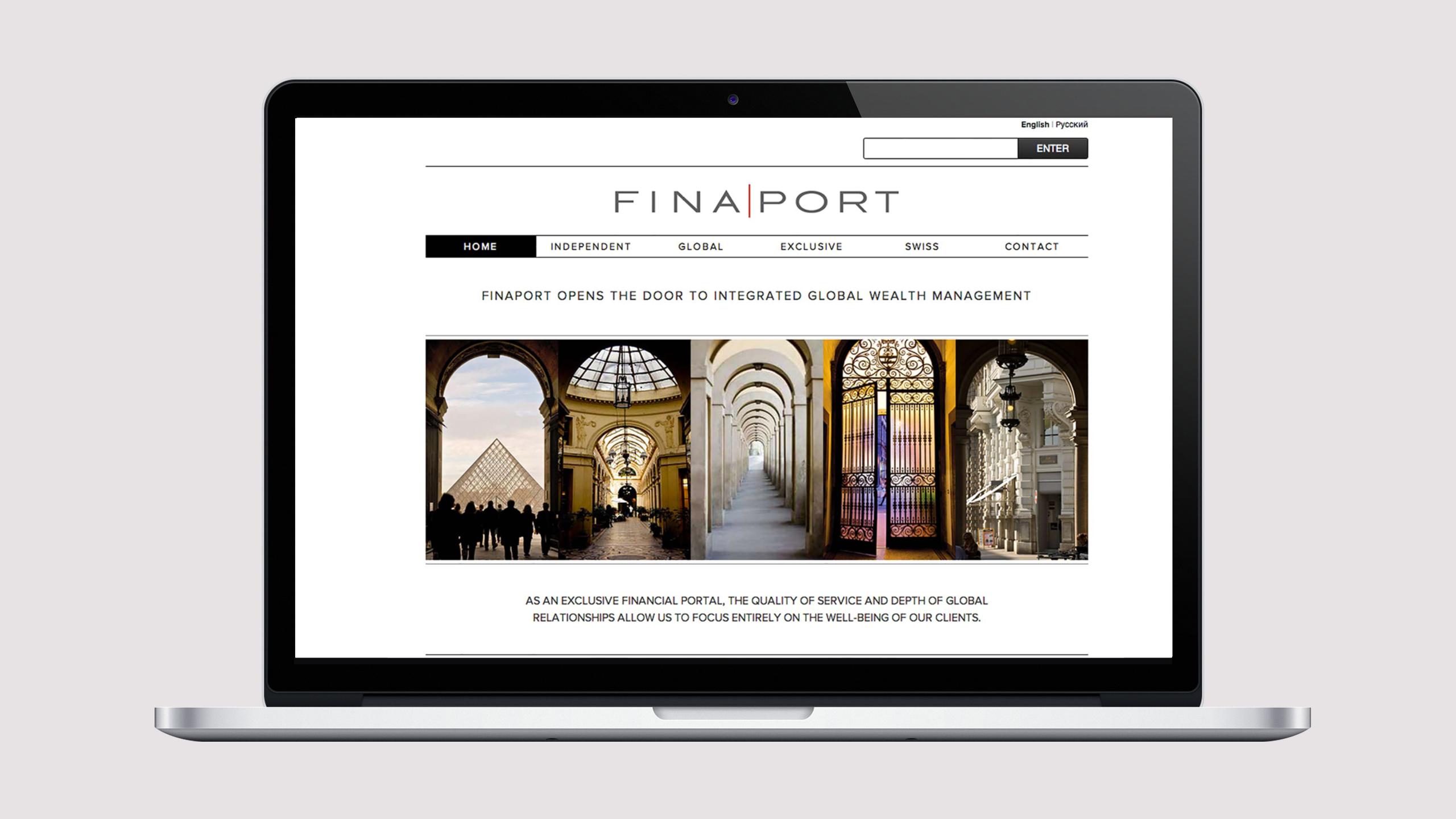 Finaport website