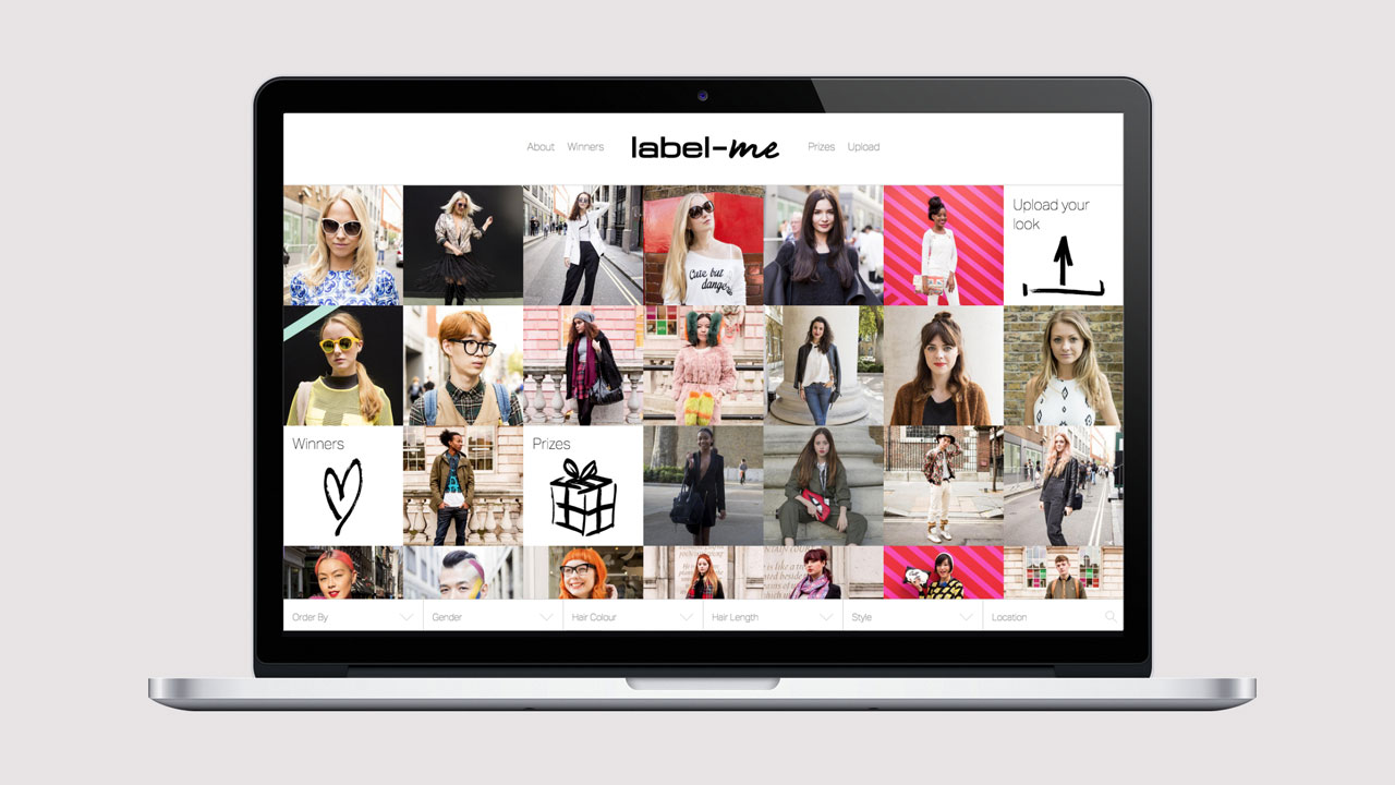 Label.me responsive website