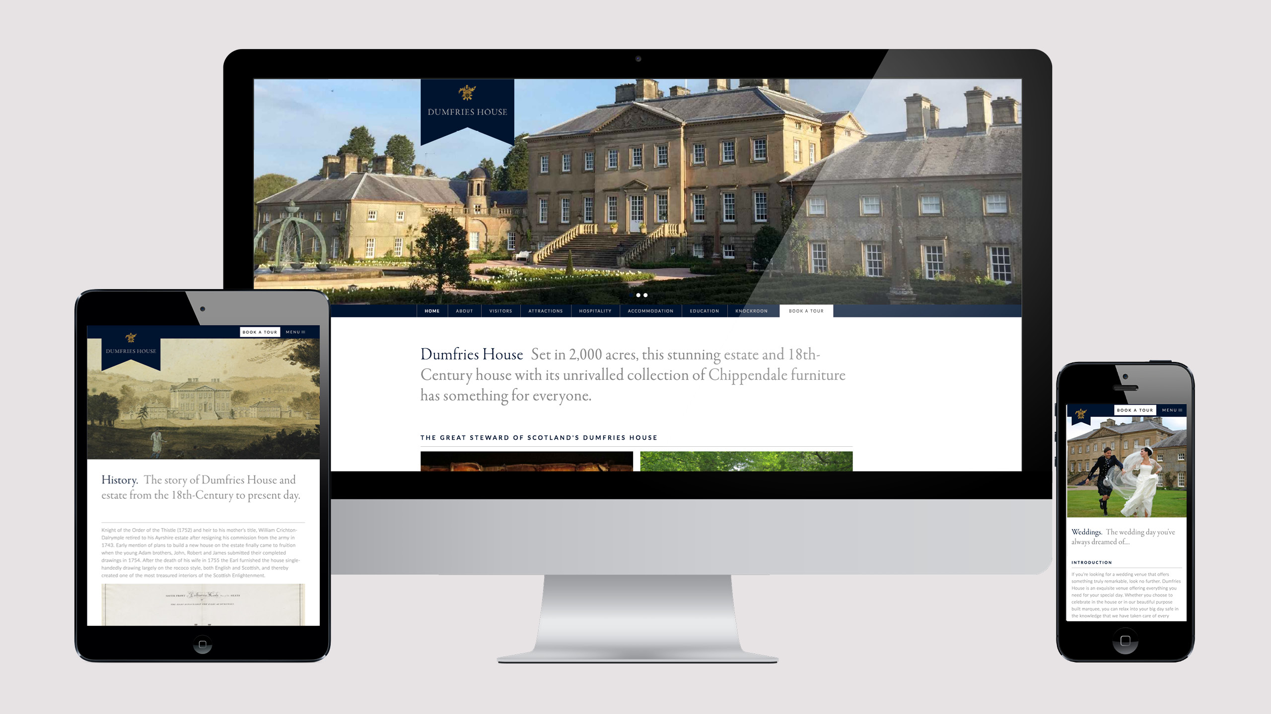 Dumfries House responsive website
