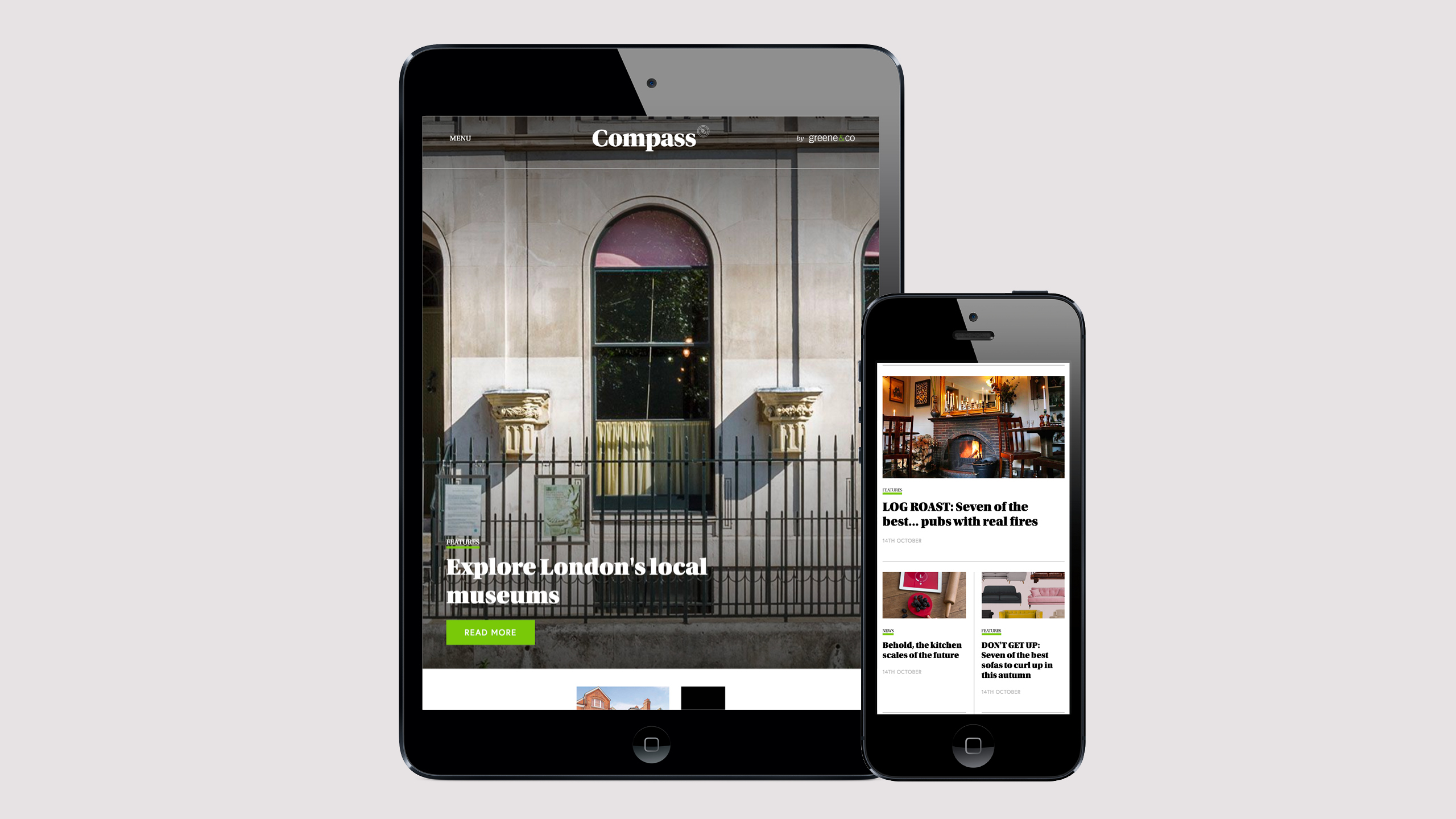 Compass Magazine homepage refresh