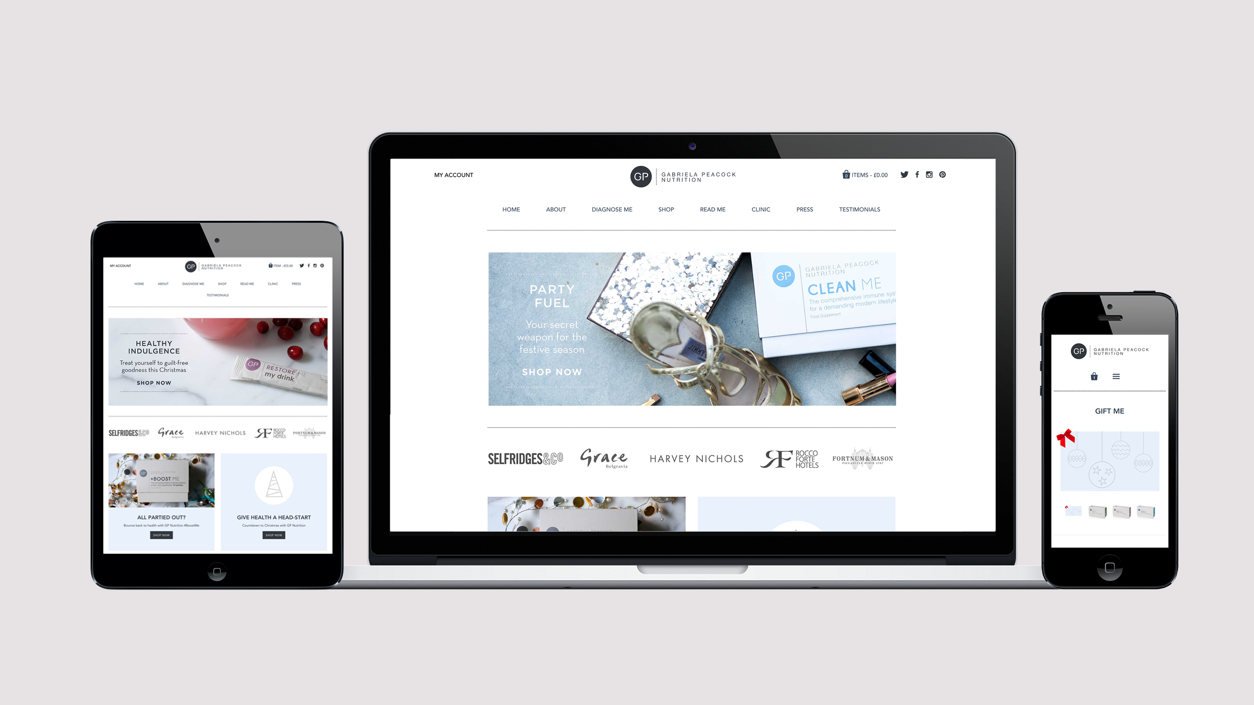 Gabriela Peacock E-commerce
