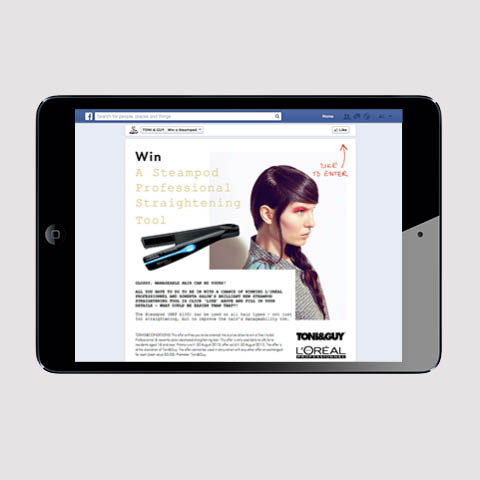 Toni&Guy Facebook app